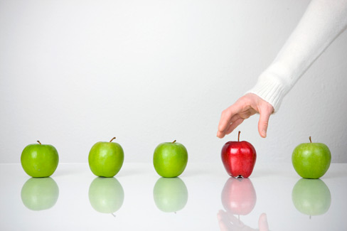 Choosing red apple among green ones: comparing quotes